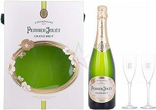 Perrier-Jouët Champagne Grand Brut in Geschenkbox mit 2 Gläsern 12,00% 0,75 lt.