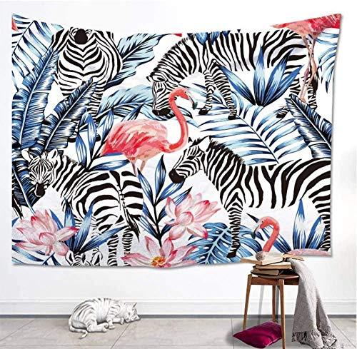 DUQQ Tapiz Ins Tropical Forest Animal Crowd Color