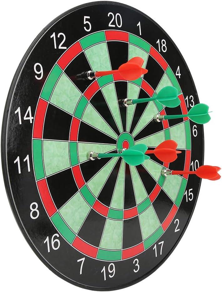 Jiawu Magnetic Dart Board Set, 15in Magnetic Dart Board for Kids
