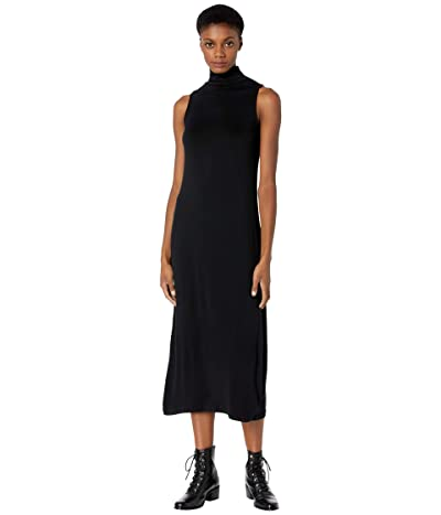 Vince Sleeveless Mock Neck Dress (Black) Women