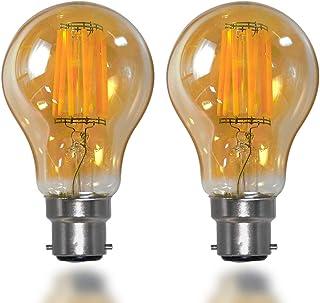 8W B22 Bayonet Vintage Edison LED Filament Light Bulbs Old Fashioned Globe Light Bulbs Retro Glass Lamp Shade 800Lm Replac...