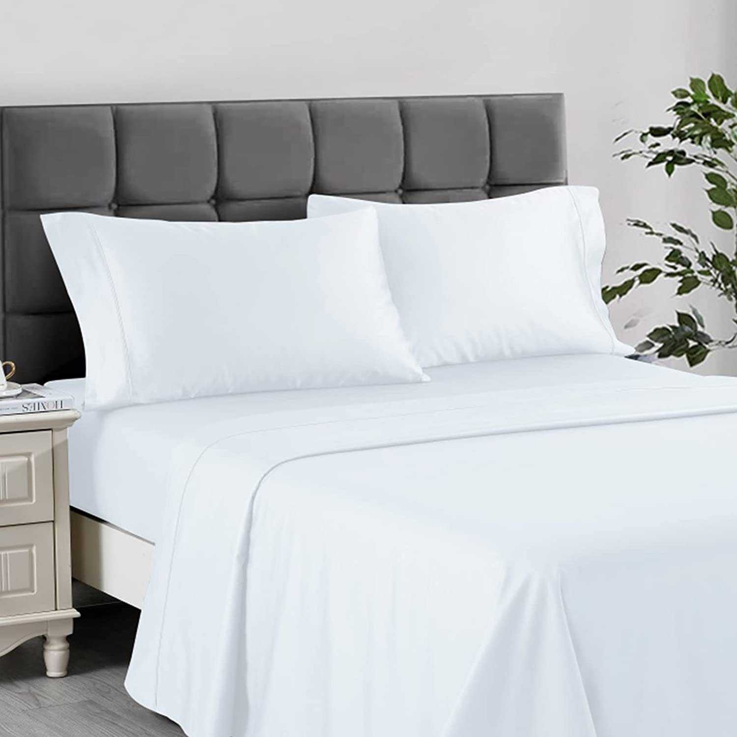 NORTH HOME Fitted Superior Sheet Set King San Francisco Mall Count Luxury P Thread Size 400