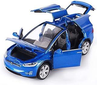لعبة سيارة كي إم تي قابلة للتجميع مودل تسلا × 90 نموذج سيارة (أزرق)