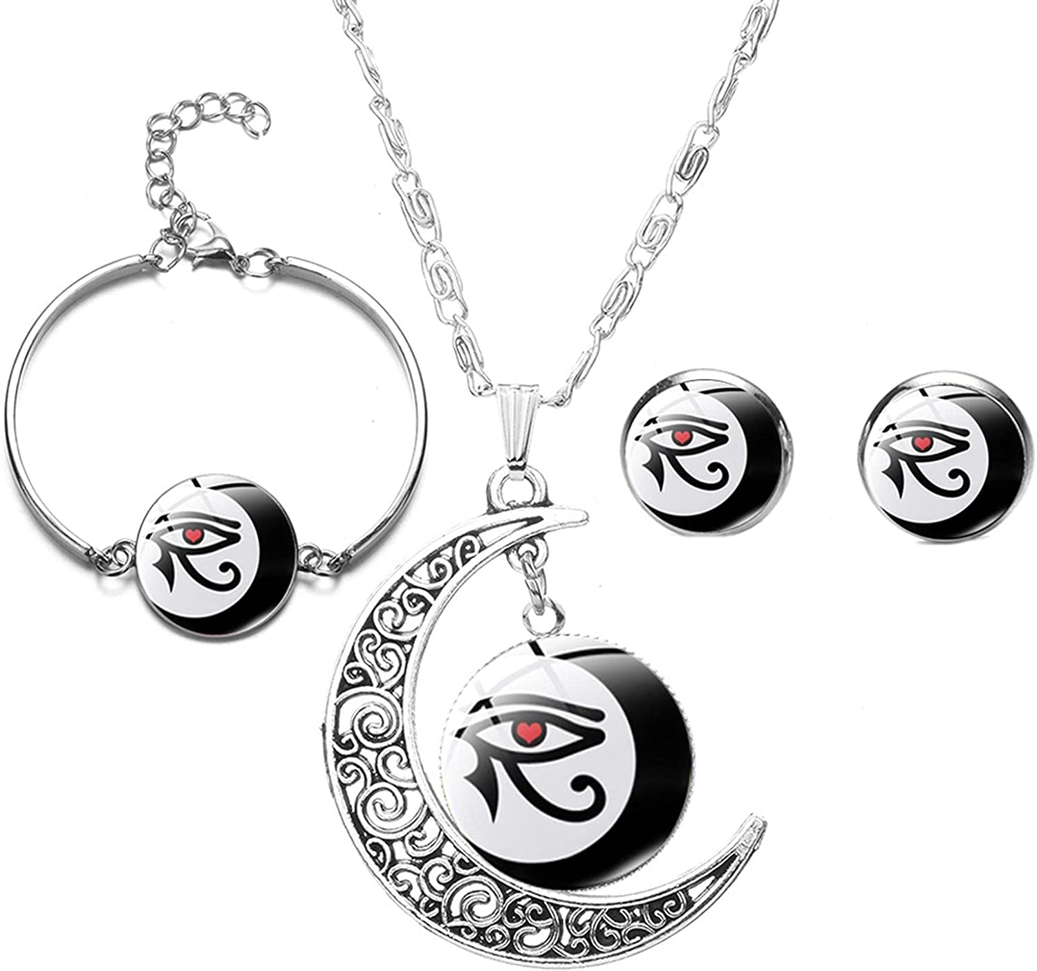 Ancient Egyptian Horus Eye Jewelry Set Rune Egypt Glass 2021 Evil Opening large release sale