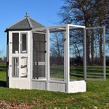 Volière Cage à Oiseaux en Bois de Haute qualité Maison Principale + Extension –Modèle ''Luise 309+310''