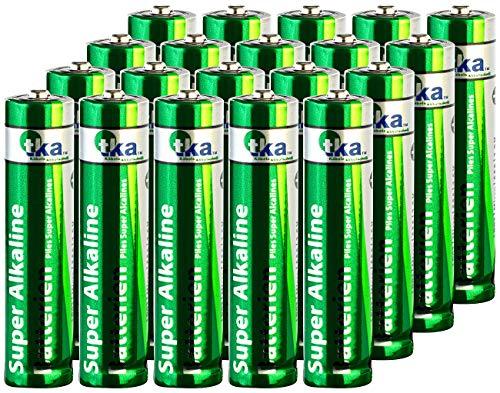 tka Köbele Akkutechnik Batterie Set: Super-Alkaline-Batterien Micro 1,5V Typ AAA, 20 Stück (Sparpack Alkaline-Batterie)