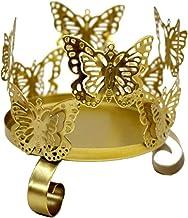 Fenteer Luxurious Candle Holder Butterfly Tealight Holder Candlestick Wedding Decoration