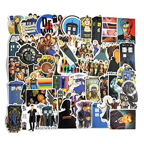 BLOUR 50 unids/Pack Doctor Who Graffiti Pegatinas para Equipaje Motocicleta portátil monopatín Adesivos teléfono Coche Pegatinas