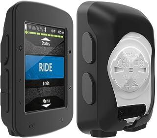 TUSITA Hoesje Compatibel met GarminEdge520 Plus - Siliconen Bescherming Hoes Beschermhoes Huid - GPS Fietscomputer Acces...