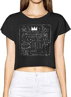 Jean-Michel Basquiat Women T Shirt Teen Girls Short Sleeve Print Leak Navel T-Shirt