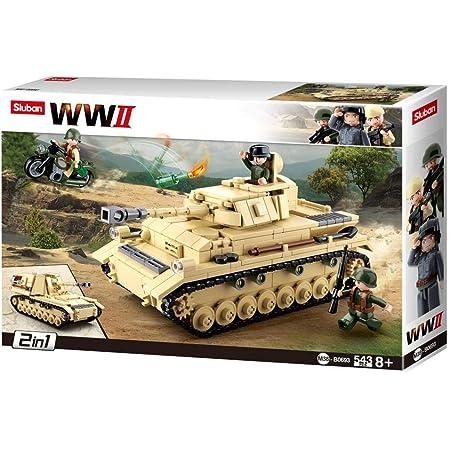 Sluban M38-B0693 Army World War II Deutscher Panzer 543 Teile
