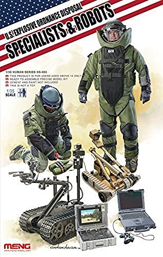 Meng  Model 1 35 US Explosive Ordnance Disposal Specialists and Robots  Figures (Multi-Colour) by MENG