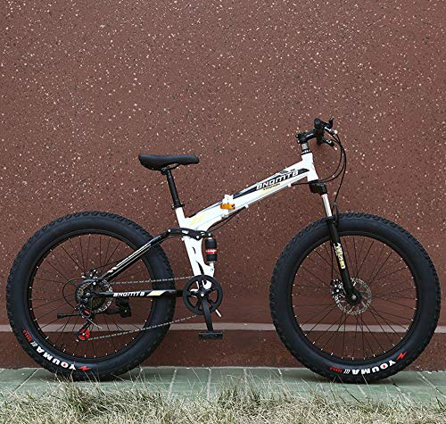 WellingA 24 Zoll 26 Zoll Mountainbike, Erwachsenen Jugend Hardtail MTB, Rahmen aus Kohlenstoffstahl, Großer Reifen Vollfederung Mountain Bike,004,26inch