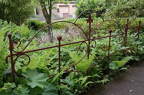 Gerry Beetzaun Gartenzaun Zaun Zaunelement Rankhilfe Metall Eisen Rost Schmetterling 46cm hoch x 60cm lang