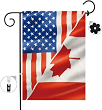 Bonsai Tree Burlap Canadian Spring Garden Flags 12x18 Prime Double-Sided Canada Yard Outdoor Decorative Flag Banner Stopper & Anti-Wind Clip