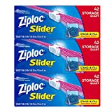 Ziploc Slider Stand-and-Fill Storage Bags, For Food, Sandwich, Organization and...