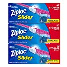 Ziploc Slider Storage Bags with New Power Shield Technology, For Food, Sandwich, Organization and More, Quart, (42 Count (Pack of 3), 126 Total Bags)