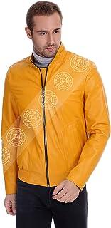 Erkek Gerçek Deri Spor Mont Beli Lastikli Sarı K-1366-19433 FA1