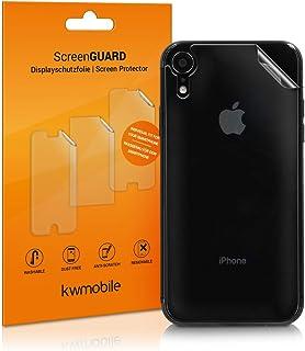kwmobile 3x Pellicola protettiva posteriore compatibile con Apple iPhone XR- Protezione retro smartphone - Qualità premium