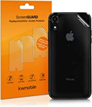 kwmobile 3X Rear Protective Film for Apple iPhone XR - Premium Quality