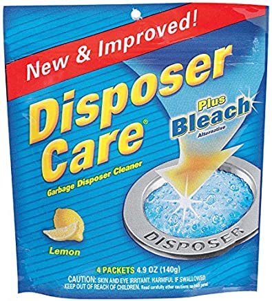 Disposer Care Garbage Disposal Cleaner, Lemon Scent 4 USES