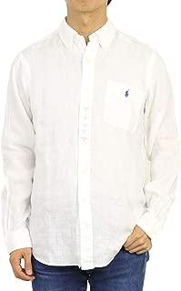 (ポロ ラルフローレン) POLO Ralph Lauren メンズ 麻リネン ボタンダウン 長袖シャツ クラシックフィット 胸ポケット ワンポイント0103781 [並行輸入品]