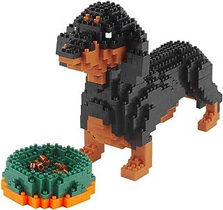 Larcele Mini Dog Building Blocks Pet Building Toy Bricks,898 Pieces KLJM-02 (Dachshund)