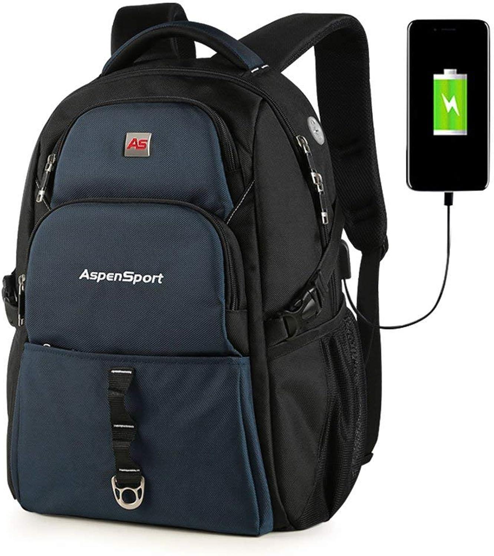 Men's Fashion Backpack Casual Daypacks Backpack Men's Backpack Student Bag Leisure Package Laptop Bag Travel Bags AntiTheft (color   1207, Size   Medium)