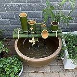 L.TSN Decoración de Fuente de bambú Fuente de bambú...