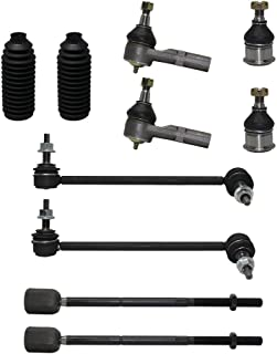Detroit Axle - Brand New 10 Piece Front Suspension Kit - 2 Lower Ball Joints, 2 Front Sway Bar End Links, All 4 Inner & Outer Tie Rod Ends + 2 Rack Boots - fits 3.0L Models Only
