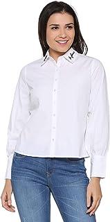 People Women's Plain Regular fit Shirt
