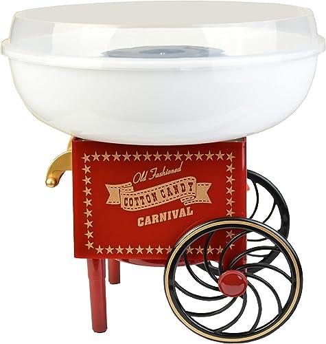 Gadgy ® Machine à Barbe à Papa Chariot | Appareil Cotton Candy | Utiliser Sucre Ordinaire ou Bonbons | Fete Foraine A...