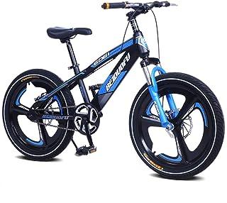 "Kids Aluminum Mountain Bike, Double Disc Brakes Front Suspension Magnesium Alloy Wheels, Single Speed 16"" 18"" 20"" Kid's Bi..."