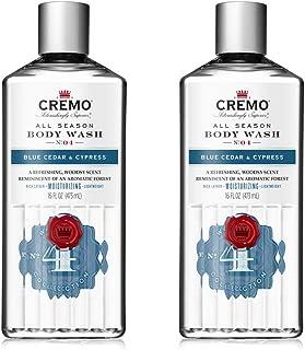 Cremo All Season Body Wash, Blue Cedar & Cypress, 16 Fl. Oz, 2 Pack - Rich, Powerful Fragrance Of Refreshing Blue Cedar Wood, Aromatic Cypress & A Citrus Zest