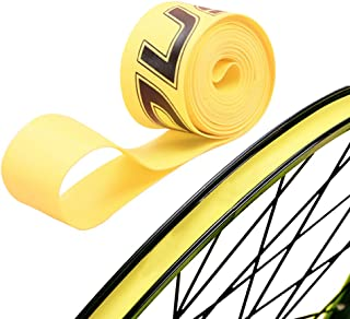 Firwood 1 Pair PVC Tire Tyre Liner Inner Tube Protector Rim Strips for Mountain Bike Bicycle Fixed Gear Bike MTB-Yellow