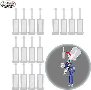 Febrytold 16Pcs Universal Gravity Spray Gun Filters Fine Mesh, Disposable Gravity Feed Spray Gun Paint Strainer
