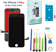 Screen Replacement for iPhone 7 Plus (5.5 inch) -3D Touch LCD Screen Digitizer Replacement Display Assembly with Waterproof Adhesive, Tempered Glass, Tools,Instruction (Black)