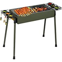 Uten Barbecue Stainless Steel Large Portable Charcoal Grill for Outdoor Cooking Camping Picnics - Green [Upgraded]