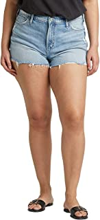 Silver Jeans Co. womens Plus Size Frisco High-Rise Vintage Shorts Denim Shorts