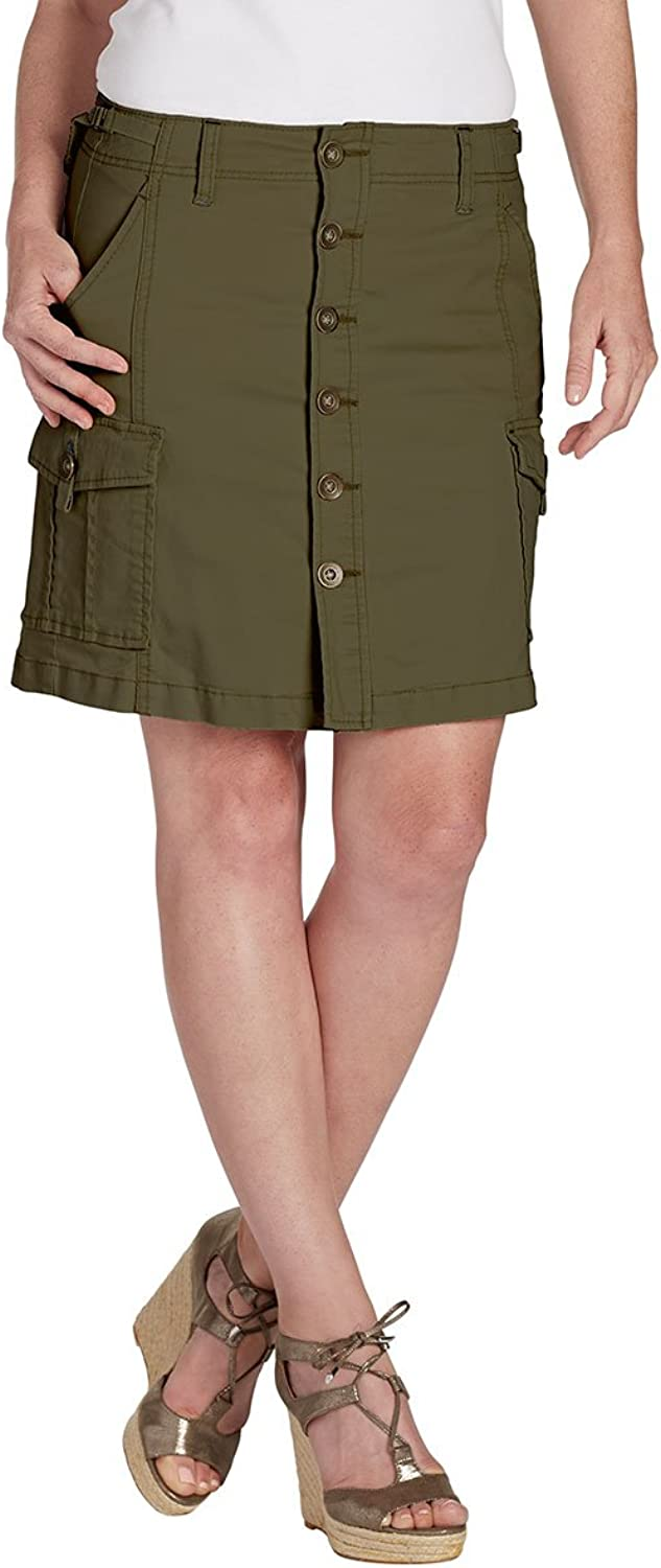 Jag Jeans Womens Twill Cargo ALine Skirt
