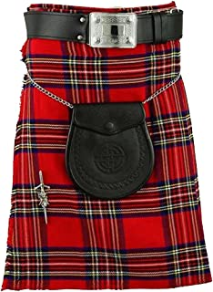 Tartan Royal Stewart Kilt 8 Yards Highlander Outfit