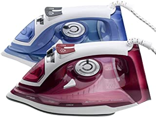 JINRU Steam Iron, Vertical Steamer with Anti-Calcium System, Non-Stick Soleplate, Self-Cleaning Function, Anti-Drip, Rapid Heating
