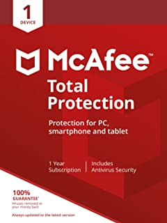 McAfee Total Protection 2020 | 1 Device | PC/Mac/Android/Smartphones | Activation code by post|1 Device|1|One time|PC|Down...