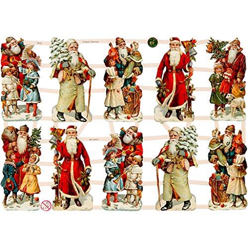 Glanzbilder, 16,5x23,5 cm, Weihnachtsmusik, 3 Blatt