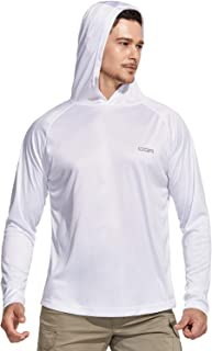 CQR Men's UPF 50+ Outdoor Long Sleeve Shirts, UV Sun Protection Loose-Fit Water T-Shirts, Running Workout Shirt (Hoodie/Round Neck 2Type)