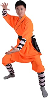 Chinese Traditional Shaolin Temple Warrior Monk's Robe Martial Arts Kung Fu Uniform Training Suit Baggy Pants Belt