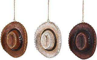 Special T Imports Western Cowboy Hats Hanging Ornaments - Set of 3