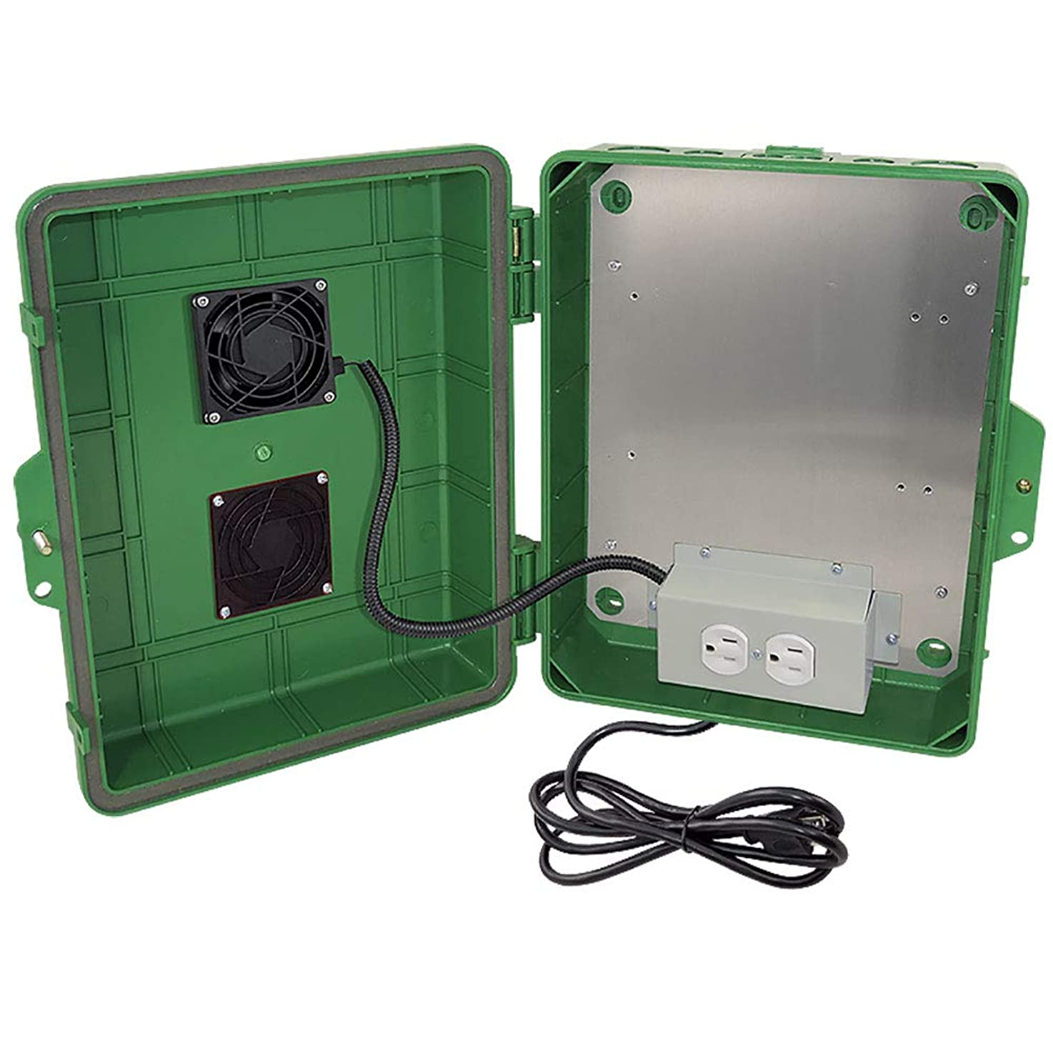 Altelix Green Vented NEMA Enclosure 14x11x5 (9