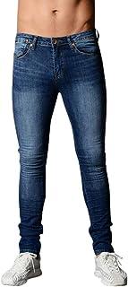 34d5f68b363 Pantalones Hombre,Pantalones Vaqueros Ajustados elásticos de los Hombres  Pantalones Rectos Largos Casuales Vaqueros Ajustados