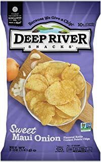 Deep River Snacks Sweet Maui Onion Kettle Cooked Potato Chips, 5 Ounce (Pack of 12)